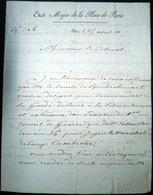 PROCES DE CAMBRONNE 1816 ORDRE MANUSCRIT AU COLONEL LANDRY DE COMMANDER LA GARDE DE SECURITE AU TRIBUNAL - Documentos