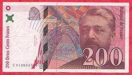 "200 Francs""Eiffel"" 1996 N °C.010834576 ----------AU/SPL - 1992-2000 Last Series"