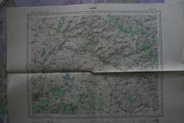 Carte IGN 1/100 000° LAON Feuille M5 Publiée 1954 (dont Sissonne, Marle, Château-Porcien, Rozoy, Rumigny, Vervins, Etc.. - Topographical Maps