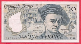"""50 Francs""""Quentin De La Tour"""" 1986 Série N°E.46(AUCUN TROU D EPINGLE)  ----------XF/SUP+ - 1962-1997 ''Francs''"""