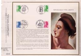 FEUILLET CEF TIRAGE 20.300 EX EN OFFSET, REPUBLIQUE : TYPE LIBERTE, 1987 - Philatélie & Monnaies