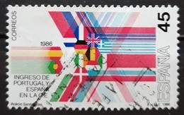 ESPAÑA 1985 Ingreso De España Y Portugal En La C.E. USADO - USED. - 1931-Hoy: 2ª República - ... Juan Carlos I