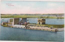 Afrique,1930,ancienne Ile D'égypte PHYLAE,submergée Par Les Eaux Du Lac Barrage D'assouan ,ruine Temple - Egypt