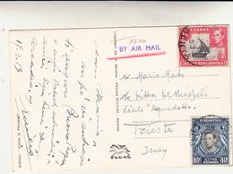 Kenya,  Post Card Used  To Italy 1953 - Kenia (1963-...)