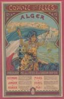 ALGERIE--ALGER---COMITE DES FETES --Programme Des Fetes De La Saison 1907-1908-- - Algeria