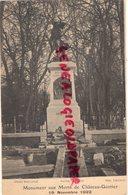 53-  CHATEAU GONTIER- MONUMENTS AUX MORTS - 19 NOVEMBRE 1922 - Chateau Gontier