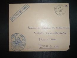 DEVANT L. OBL.7-1 1961 POSTE AUX ARMEES AFN + 11? REGIMENT DU GENIE SAHARIEN - Cachets Militaires A Partir De 1900 (hors Guerres)