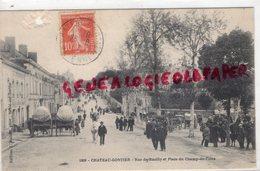 53-  CHATEAU GONTIER- RUE DE RAZILLY ET PLACE DU CHAMP DE FOIRE -1911 - Chateau Gontier
