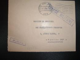 DEVANT L. OBL.MEC.31.1.59 POSTE AUX ARMEES AFN + EXP. SP 88.316 - Marcophilie (Lettres)