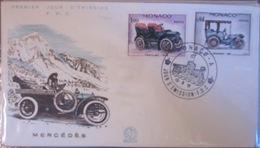 Monaco FDC 1961 - Mercédès - Voitures
