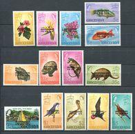 222 GRENADE 1974 - Yvert 500/13 - Surcharge Independance - Animaux Fleur - Neuf ** (MNH) Sans Trace De Charniere - Grenada (1974-...)