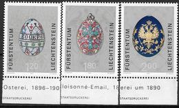 2001  Liechtenstein   Mi. 1259-61**MNH  . Kostbare Ostereier Aus Dem Zarenreich - Liechtenstein