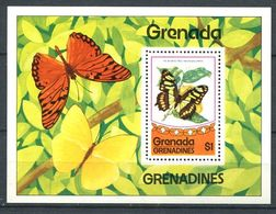 222 GRENADE GRENADINES 1975 - Yvert BF 10 - Papillon - Neuf ** (MNH) Sans Trace De Charniere - Grenada (1974-...)