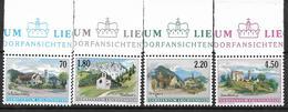 2001  Liechtenstein   Mi. 1262-5**MNH   Freimarken: Dorfansichten - Liechtenstein
