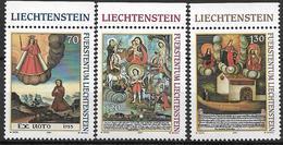 2001  Liechtenstein   Mi. 1271-3**MNH    Votivbilder - Liechtenstein
