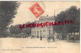 53-  CHATEAU GONTIER- COUR DE LA GARE - Chateau Gontier