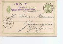 Danemark ( EP De 1889 De Aarhus  Vers Copenhagen à Voir) - Lettres & Documents