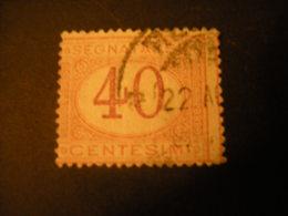 REGNO -1870/94,  Sass. N. 24, SEGNATASSE, Cent. 40, Arancio E Carminio, Usato - 1878-00 Umberto I