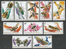 RWANDA - MNH - Animals - Insects - Butterflies - Beetles - Papillons