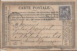 LT4392  N°77/carte Postale, Oblit Cachet à Date De ST GERMAIN-EN-LAYE, Seine-et-Oise(72) - 1876-1898 Sage (Type II)