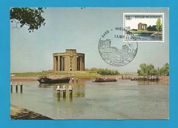 Belgien  1977  Mi.Nr. 1906 , EUROPA CEPT Landschaften - Maximum Card - Premier Jour Nieuwpoort  7.05.1977 - 1971-1980