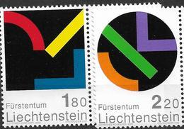 2001 Liechtenstein   Mi. 1281-2 **MNH  Hommage An Liechtenstein: Zeitgenössische Kunst - Liechtenstein