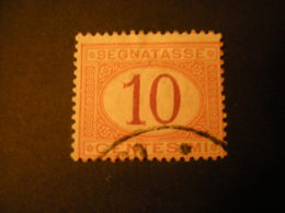 REGNO -1870/94,  Sass. N. 21, SEGNATASSE, Cent. 10, Arancio E Carminio, Usato - 1878-00 Umberto I