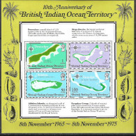 British Indian Ocean Territory 1975 Maps MS MNH - British Indian Ocean Territory (BIOT)