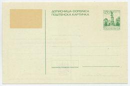 YUGOSLAVIA 1972 0.50d With Overprint Error, Unused.  As Michel P176 - Postal Stationery