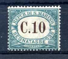 1897-1919 SAN MARINO TASSE N.2 MNH ** - Segnatasse