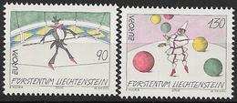 2002  Liechtenstein   Mi. 1283-4 **MNH  . Europa: Zirkus. - Liechtenstein