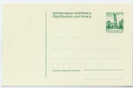 YUGOSLAVIA 1972 Postcard 0.50d Emerald Green, Unused.  Michel P176a - Postal Stationery