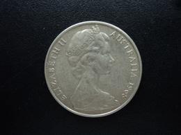 AUSTRALIE : 20 CENTS  1968  KM 66   TTB - Monnaie Décimale (1966-...)