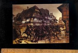 WOERTH FROESCHWILLER Bas Rhin : La Bataille Du 6 Août 1870 Charge Des Cuirassiers De Reichshoffen Par DETAILLE Peinture - Woerth