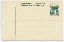 YUGOSLAVIA 1967 Construction Projects 0.20d Postcard, Unused.  Michel P167 - Postal Stationery
