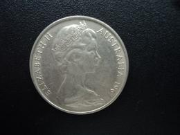AUSTRALIE : 20 CENTS  1967  KM 66   SUP - Monnaie Décimale (1966-...)