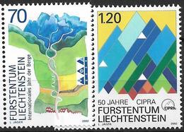 2002  Liechtenstein   Mi. 1289-90 **MNH Internationales Jahr Der Berge; 50 J. Internationale Kommission Zum Schutz Der A - Liechtenstein
