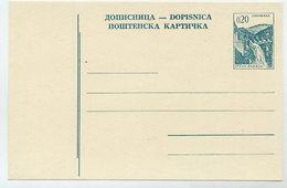 YUGOSLAVIA 1966 Construction Projects 0.20d Postcard, Unused.  Michel P166 I - Postal Stationery