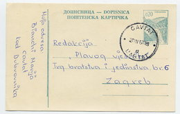 YUGOSLAVIA 1966 Construction Projects 0.20d Postcard, Used.  Michel P166 I - Postal Stationery