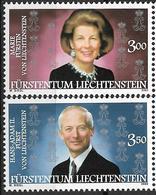 2002  Liechtenstein   Mi. 1292-3**MNH Fürstenpaar Hans-Adam II. Und Marie Von Und Zu Liechtenstein - Liechtenstein