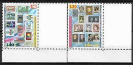 2002  Liechtenstein   Mi. 1297-8**MNH  Liechtensteinische Briefmarkenausstellung LIBA '02, Vaduz: 90 Jahre Briefmarken V - Liechtenstein