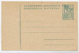 YUGOSLAVIA 1961/62 Construction Projects 15d Postcard, Unused.  Michel P160 I - Postal Stationery