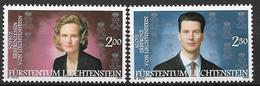 2002  Liechtenstein   Mi. 1299-1300**MNH  Erbprinzenpaar Alois Und Sophie Von Und Zu Liechtenstein. - Liechtenstein