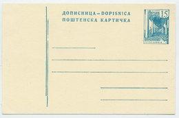 YUGOSLAVIA 1959 Construction Projects 15d Postcard, Unused.  Michel P159d - Postal Stationery