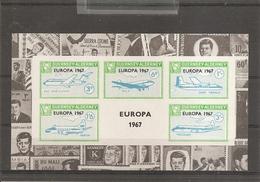 Alderney - Europa 1967-Avions ( BF Privé XXX -MNH- De Alderney De 1967 ) - Alderney