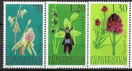 2002  Liechtenstein   Mi. 1301-3**MNH   Orchideen - Liechtenstein