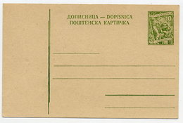 YUGOSLAVIA 1954 Occupations 10d Postcard, Unused.  Michel P144a - Postal Stationery