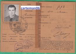 Extrait Du Livret Individuel Militaire - Armée De L'Air, Brigade De Bombardement N°11 - Documents