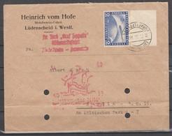 TIMBRE DE L ALLEMAGNE SUR LETTRE PA  DE 1930 ( GRAF ZEPPELIN )Nr 438 CATALOGUE MICHEL 2011 - Poste Aérienne