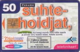 TARJETA TELEFONICA DE ESTONIA, (089) - Estonia